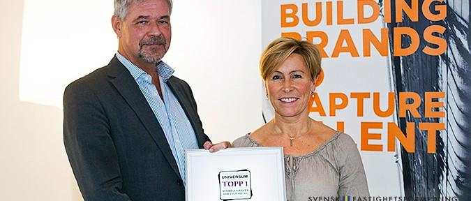 Svensk Fastighetsförmedling är Sveriges Bästa Arbetsgivare 2012