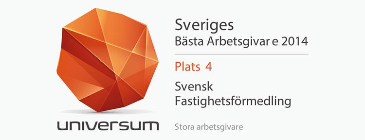 Sveriges Bästa Arbetsgivare 2014 - Svensk Fastighetsförmedling
