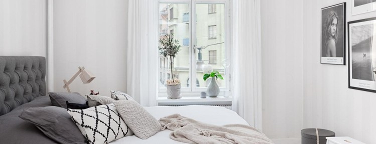 Sovrum med hotellkänsla