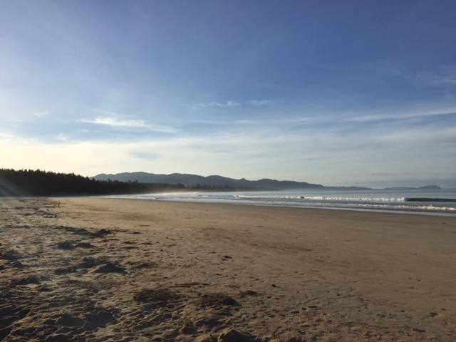 Varför inte vara här och nu under en morgonjogg på denna vackra strand?