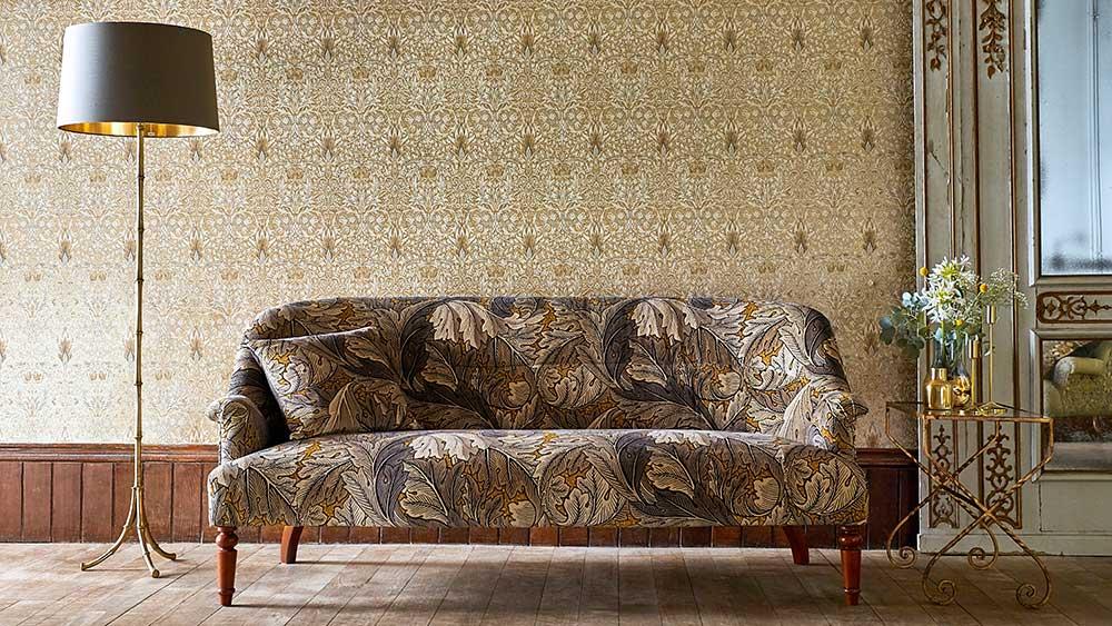 Sekelskiftesvilla eller nybyggd lägenhet, William Morris mönster fungerar I båda fallen vilket är en av anledningarna till att han fortfarande är så populär.