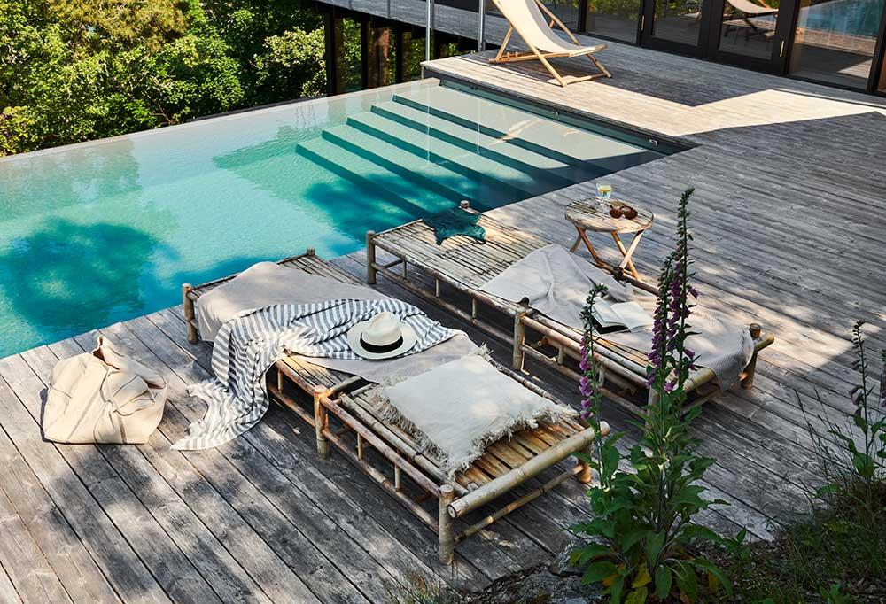 Bygga på berg, runt pool eller i slänt
